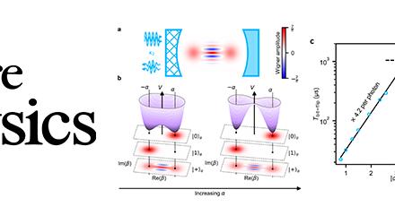 Suppression exponentielle des flips de bit pour un qubit encodé dans une cavité